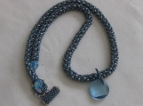 Beaded Blue Swarovksi Crystal Necklace