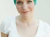 Stylish chemo headwear for womens hair loss - Teal / Sea Green
