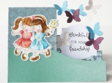 Thanks Friend Step Card with Butterflies