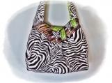 Tootles Boutique Bag - Dark Brown Animal Print Designer Fabric