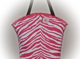 Tootles Boutique Bag - Hot Pink Animal Print Canvas Fabric