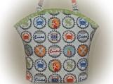 Tootles Boutique Bag - Michael Miller Coastal Bottle Caps