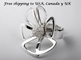 950 Sterling Silver Flower Ring
