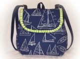 J Castle BackPack - Blue Sail Away Canvas Designer Fabric