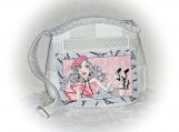J Castle Crossbody Bag Loralie Harris Light Grey Designer Fabric