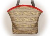J Castle Designer Bag - Christmas Noel Natural Linen Metallic