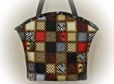J Castle Designs Bag - Fashionista Squares Designer Fabric