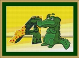A Is For Aligator Cross Stitch Pattern