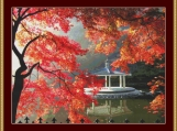 Autumn Gazebo Cross Stitch Pattern