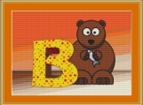 B Is For Bear Cross Stitch Pattern