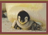 Baby Emperor Penguin Cross Stitch Pattern
