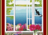 Cat In The Office Cross Stitch Pattern