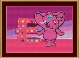 E Is For Elephant Cross Stitch Pattern
