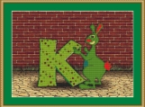 K Is For Kangaroo Cross Stitch Pattern