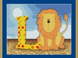L Is For Lion Cross Stitch Pattern