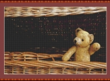 Old Teddy Bear II Cross Stitch Pattern