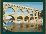Pont Du Gard Cross Stitch Pattern