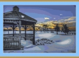 Snow All Around Cross Stitch Pattern