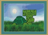 T Is For Turtle Cross Stitch Pattern