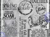 The Coolest Sister Digi Word Art and Vintage Image Set