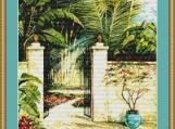 Tranquil Garden I Cross Stitch Pattern