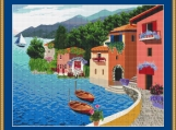 Village By The Sea Cross Stitch Pattern