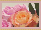 A Bouquet Of Roses Cross Stitch Pattern