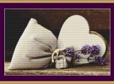 Lavender Bag Cross Stitch Pattern