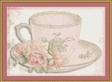 Tea Cup Cross Stitch Pattern