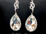 Bridal Chandelier Swarovski Crystal Cubic Zirconia Drop Earrings