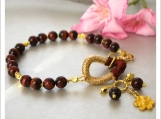 Beautiful Gold Fill and Brown Chocolate Tiger Eyes Bracelet