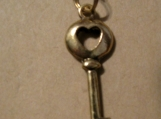 Gold Plated heart Key necklace