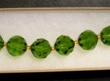 Olive Green Glass Beaded Bracelet