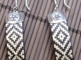 Straw Woven 950 Sterling Silver Earrings