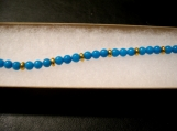 Turquoise and gold beaded Bacelet