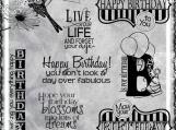 Happy Birthday Fabulous Digi Word Art Set