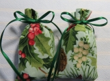"Christmas Green 3""X2"" Sachet-'Holiday Pomegranate' Fragrance-374"