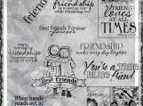 """True Blue Friend"" Digi Image and Word Art Set"