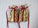 "Christmas Gold 3""X2"" Sachet-'Jingle Bell Java' Fragrance-448"