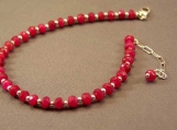 Ruby and Sterling Silver Bracelet