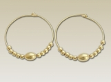 Sunshine of my life - 14K yellow gold filled hoop earrings with gold filled beads.