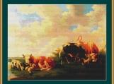 Cattle In A Meadow Cross Stitch Pattern