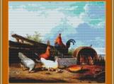 Farmyard Scene Cross Stitch Pattern
