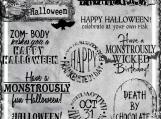 """Monstrously Fun Halloween"" Digi Image and Word Art Set"