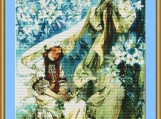 Madonna In The Lilies Cross Stitch Pattern