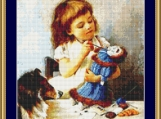 The Young Artist Cross Stitch Pattern