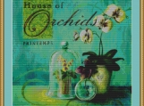 House Of Orchids Cross Stitch Pattern