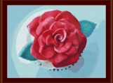 Rose Cupcake Cross Stitch Pattern
