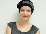 Stylish chemo hat - pre-tied turban for cancer patients