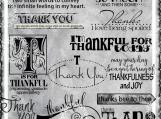 """Thankfulness"" Word Art Set"